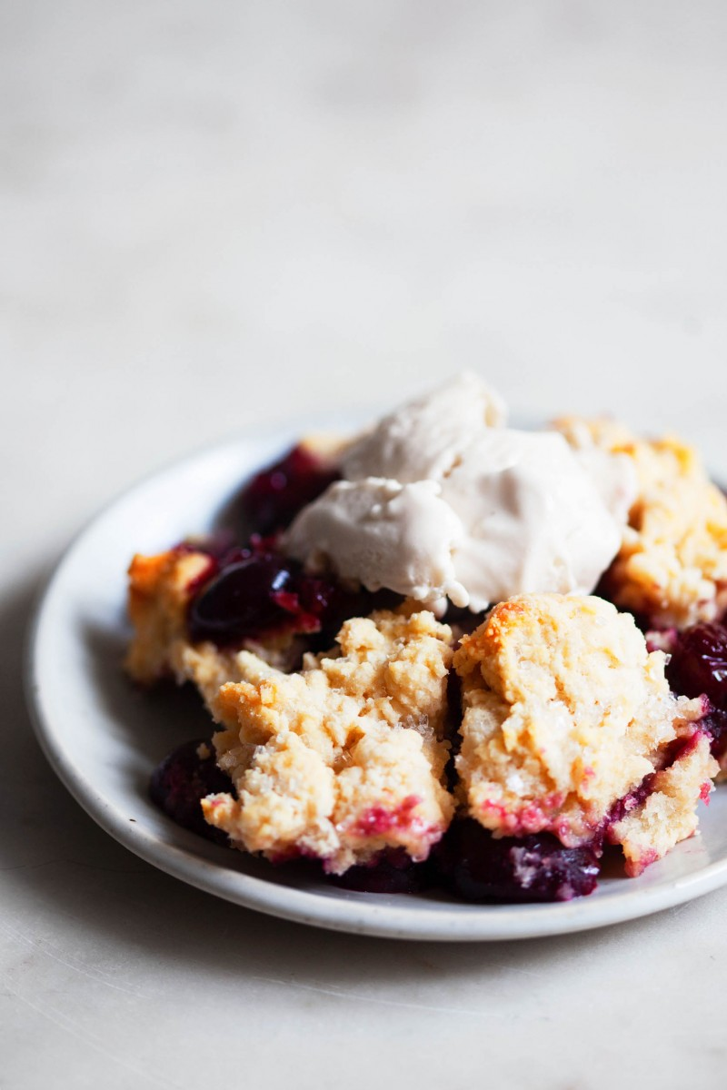 Vegan Cherry Cobbler | The Full Helping